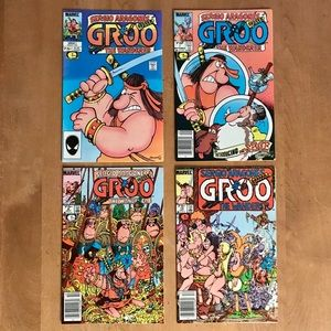 Groo issues #1, #7, #8, #10